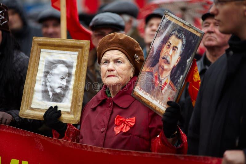 коммунистический samara России демонстрации стоковое изображение rf