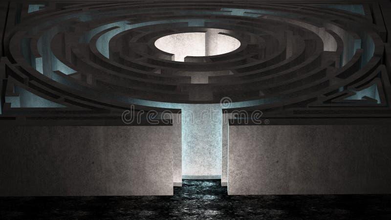 Комната лабиринта иллюстрация штока