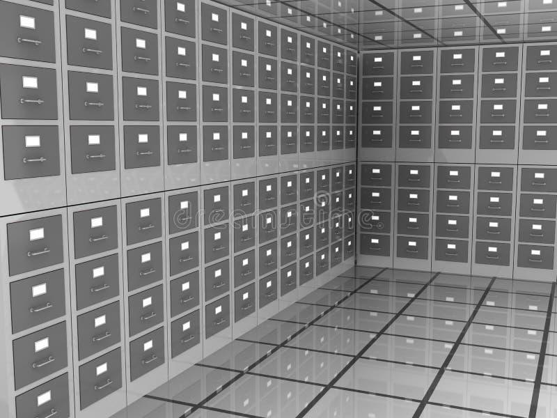 Комната архива иллюстрация штока