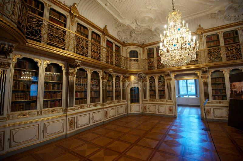 Комната библиотеки замка Rosenborg стоковое изображение rf