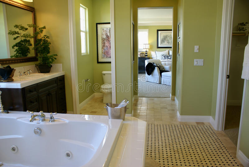 комната ванны мастерская стоковое изображение rf