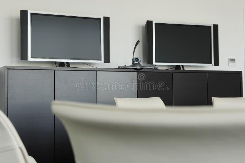 Комната видеоконференции стоковое изображение rf