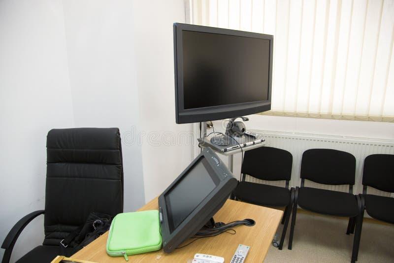 Комната видеоконференции стоковое фото rf