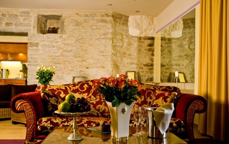 комната гостиницы живущая стоковое изображение rf