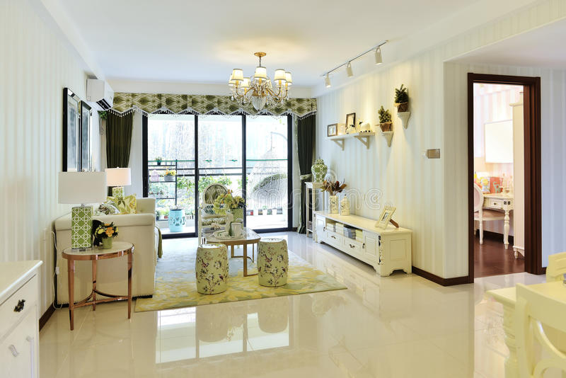 Комната гостиной живущая стоковое изображение rf