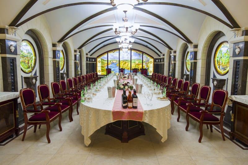 Комната дегустации вин вызвала Европейск Hall стоковое изображение
