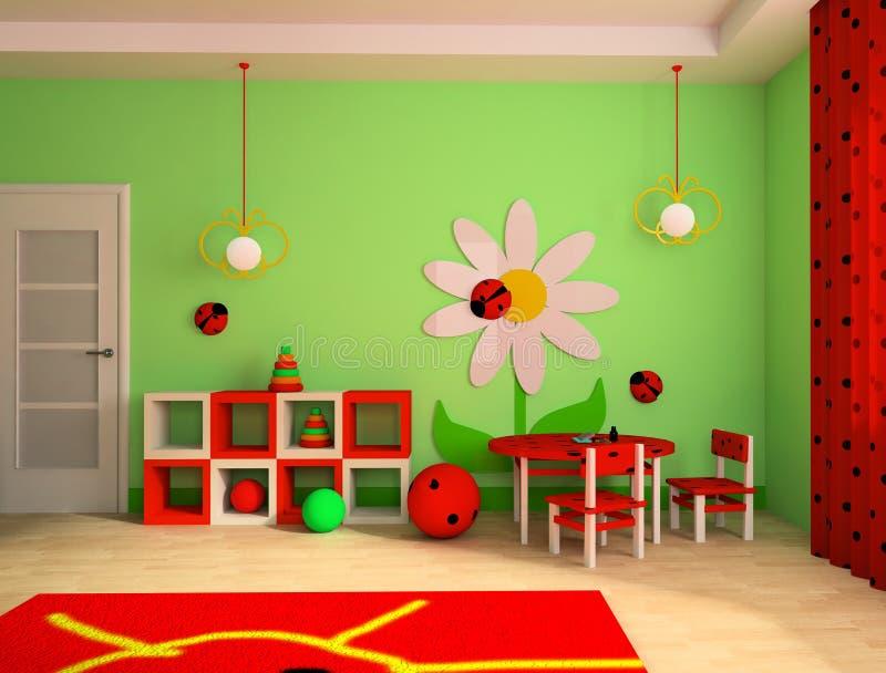 комната детей s иллюстрация штока