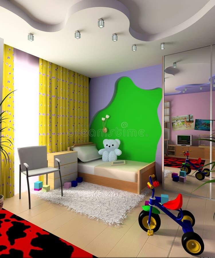 комната детей s иллюстрация вектора