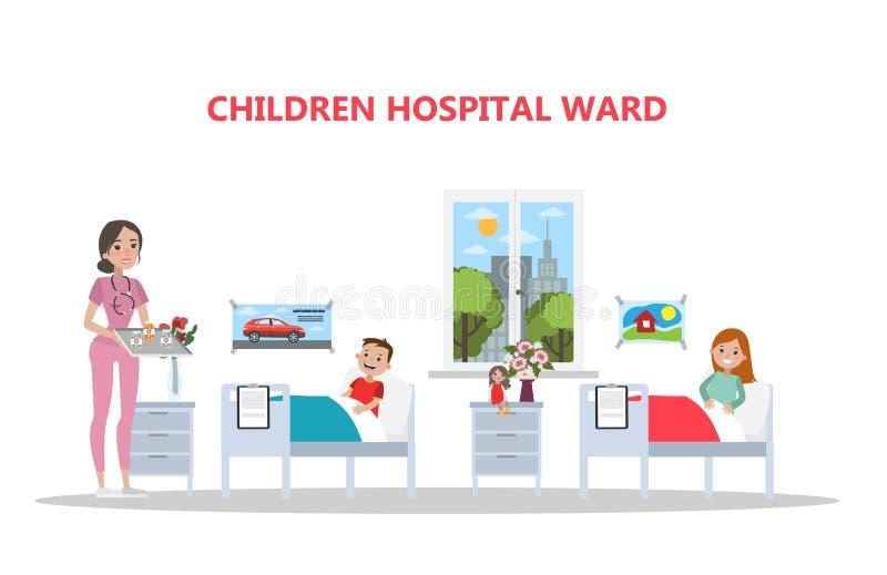 Комната детской больницы иллюстрация штока