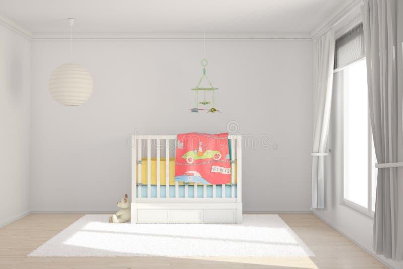 Комната детей с игрушками иллюстрация вектора