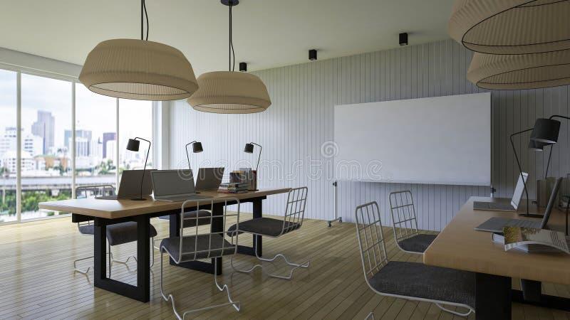 комната деятельности 3d иллюстрация штока