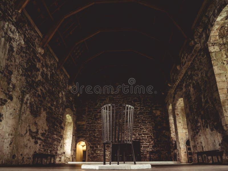 Комната замка большая без людей стоковое фото rf