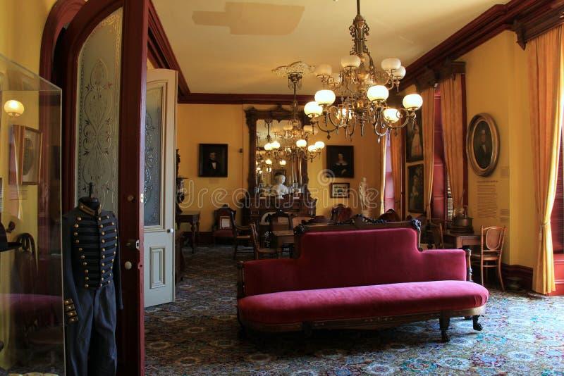 Комната игры с богато украшенной мебелью, казино Canfield, 2014 стоковое изображение rf