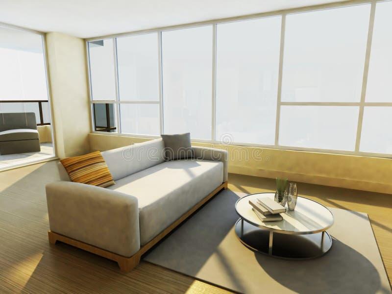 комната интерьера конструкции живя самомоднейшая бесплатная иллюстрация