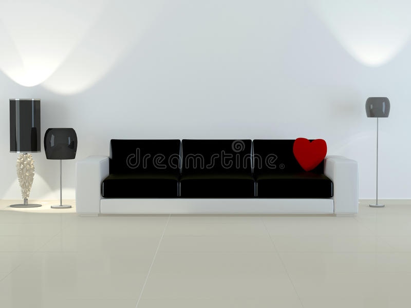 комната интерьера элегантности конструкции живя самомоднейшая иллюстрация вектора