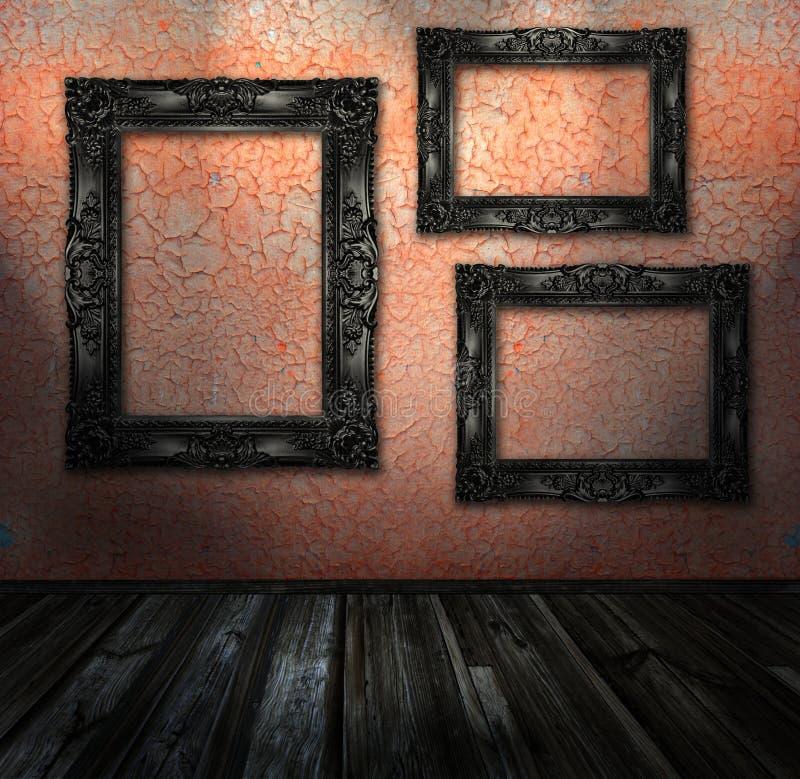 комната интерьера grunge стоковые изображения rf