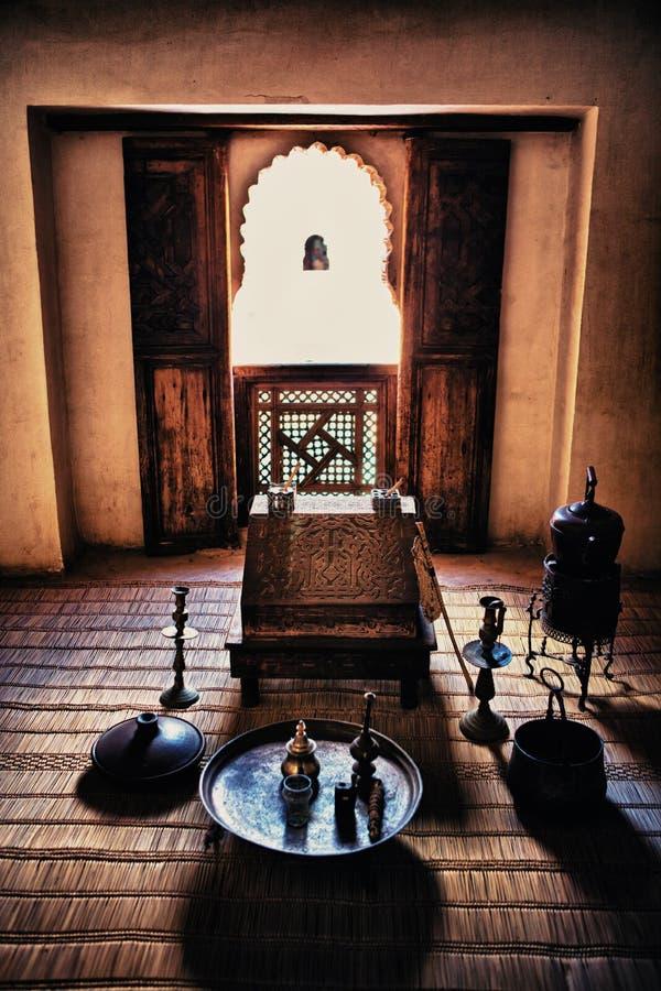 Комната исследования Бен Yussef Medersa стоковая фотография rf