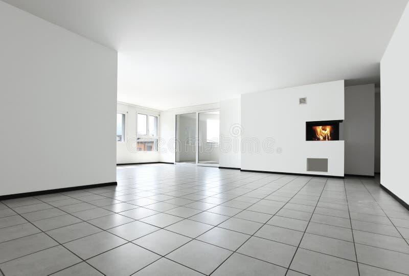 комната квартиры пустая новая стоковые изображения