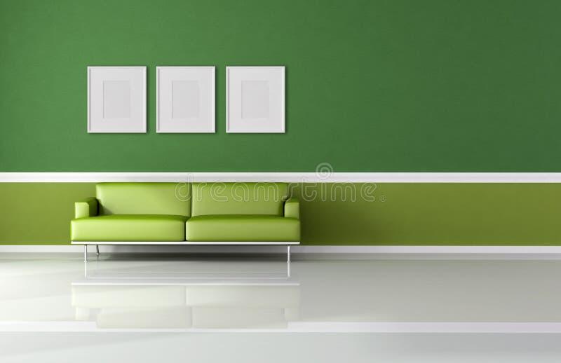 комната классицистического зеленого цвета живя самомоднейшая бесплатная иллюстрация
