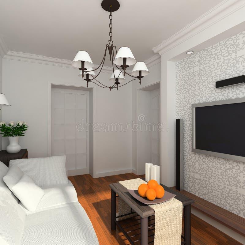 комната классицистической мебели живущая иллюстрация вектора