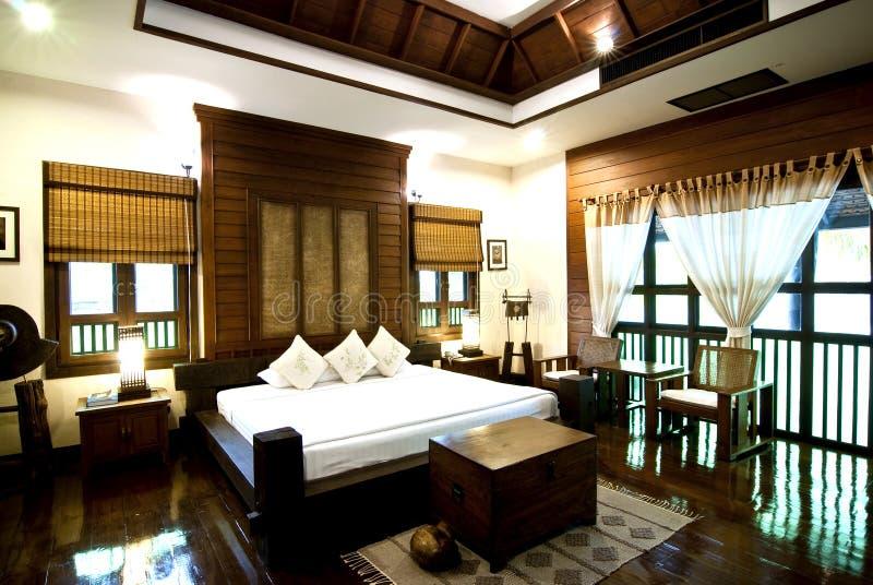 комната кровати современная тайская стоковая фотография rf