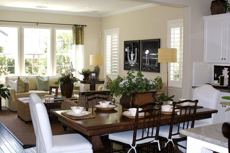 комната кухни живущая стоковое фото rf