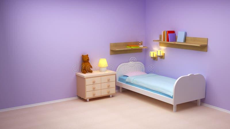 комната младенца бесплатная иллюстрация