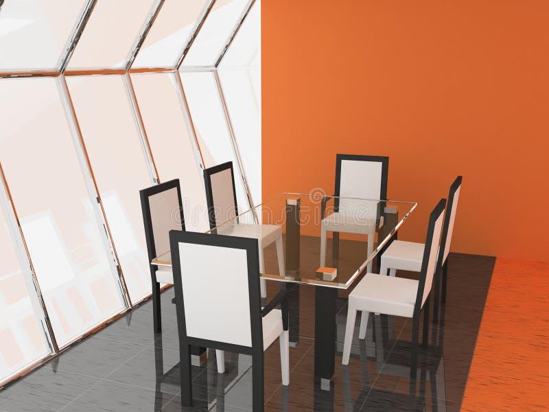 комната обеда иллюстрация вектора