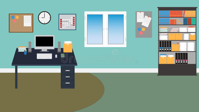 Комната офиса вектора. в EPS 10 иллюстрация штока