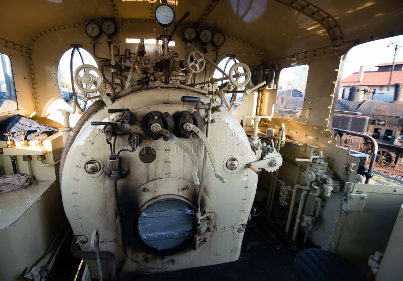 Комната паровозной машины пара стоковое изображение rf