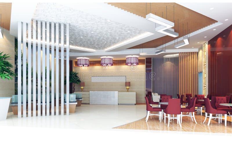 комната перевода приема залы 3d бесплатная иллюстрация