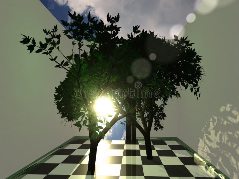 комната природы иллюстрация вектора