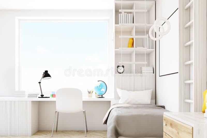 Комната ребенка с квадратным окном бесплатная иллюстрация