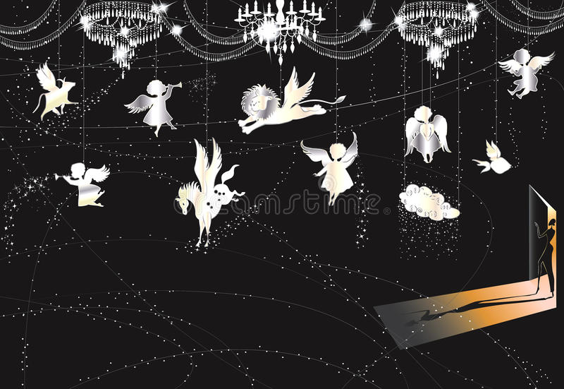комната рождества иллюстрация вектора