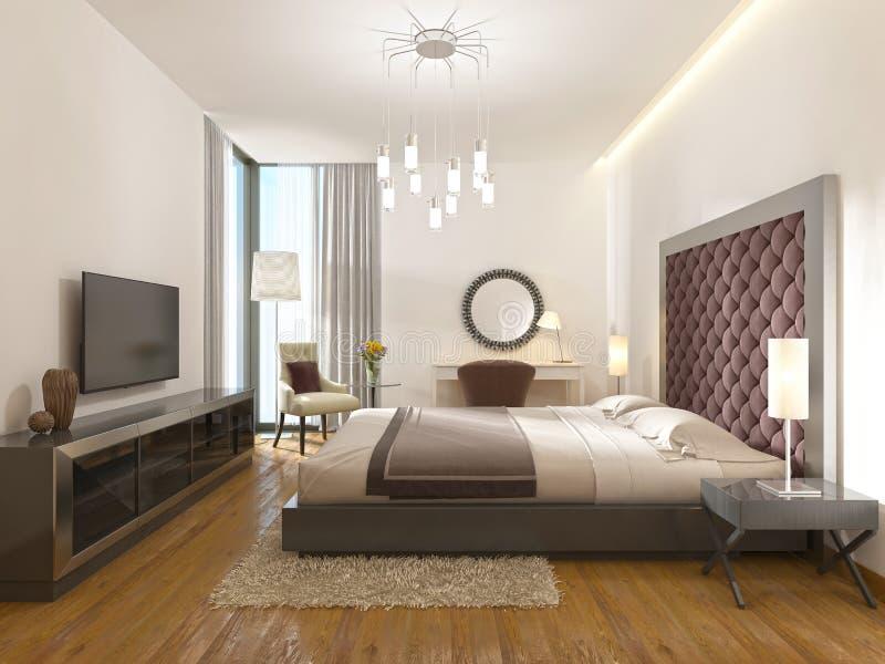 Комната роскошной гостиницы в стиле Арт Деко бесплатная иллюстрация
