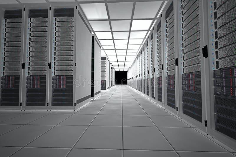 Комната сервера стоковые изображения rf