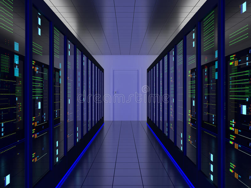 Комната сервера иллюстрация вектора
