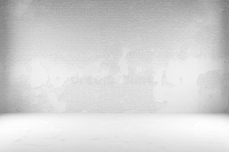 Комната с белыми кирпичами иллюстрация штока