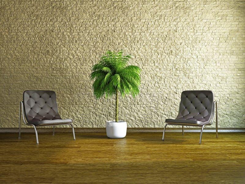 Комната с креслами стоковое изображение