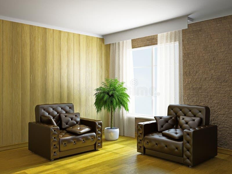 Комната с креслами стоковое фото rf