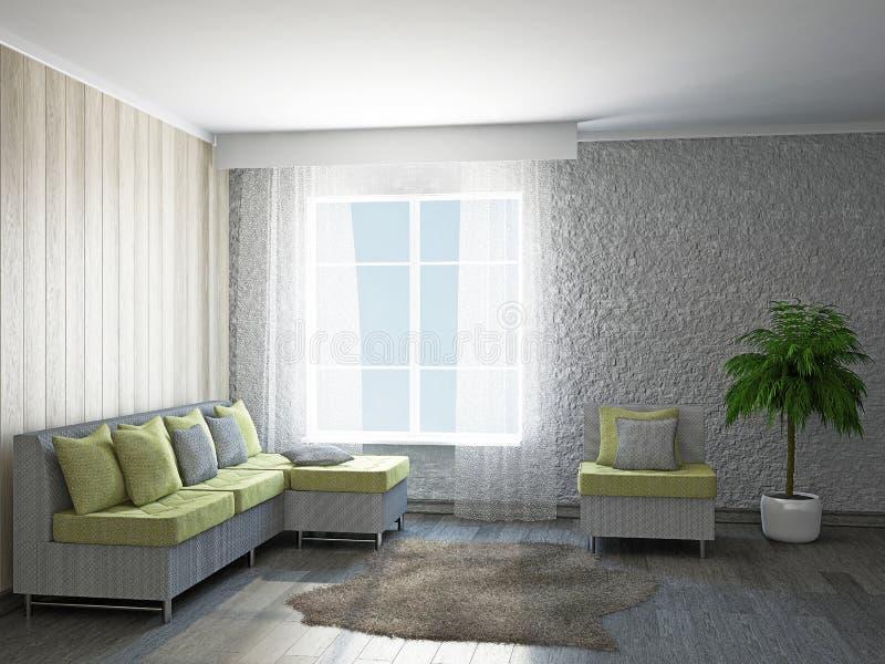 Комната с мебелью стоковое фото