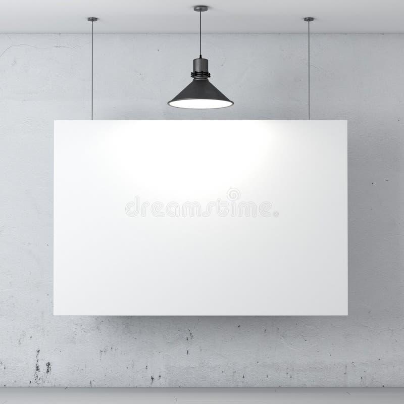 Комната с плакатом на стене иллюстрация штока