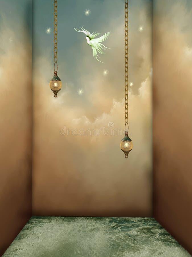 комната фантазии иллюстрация штока