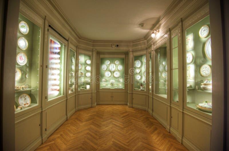 Комната фарфора замка Rosenborg стоковое фото rf
