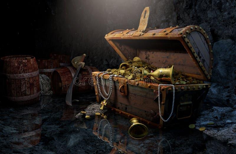 Комод пирата иллюстрация штока