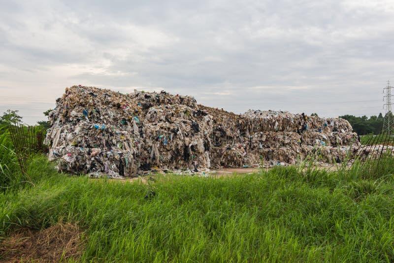 Компактированная recyclable пластмасса стоковое фото
