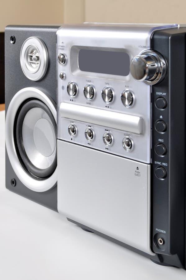 компактная стерео система стоковое фото