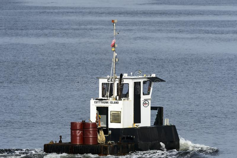 Компактное workboat Cuttyhunk стоковое фото