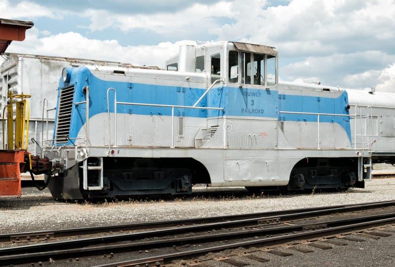 Компактный двигатель, музей железной дороги Portola стоковое фото rf