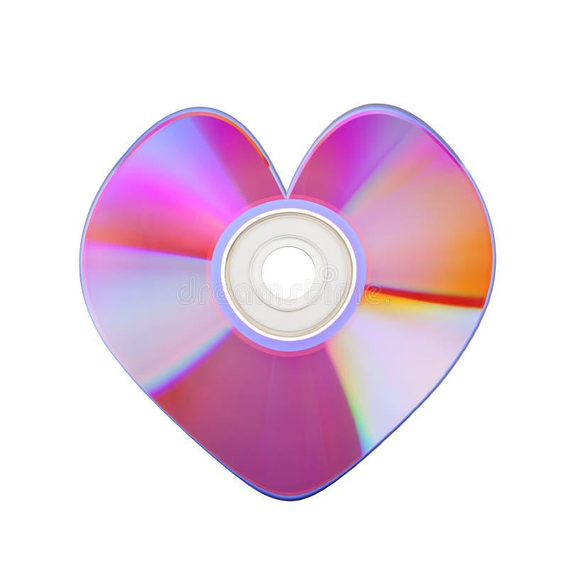 компактный диск закрывает цветастое сердце вверх стоковые фото